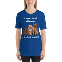 Bella and Canvas Short-Sleeve Unisex T-Shirt: Have cats white text