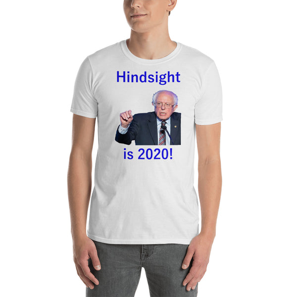Gildan Short-Sleeve Unisex T-Shirt: Hindsight blue text