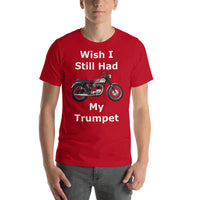 Bella and Canvas Short-Sleeve Unisex T-Shirt: Still had Trumpet white text