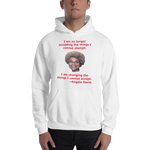 Gildan Hooded Sweatshirt: Angela Davis quote red text