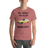 Bella and Canvas Short-Sleeve Unisex T-Shirt: MGB-GT black text
