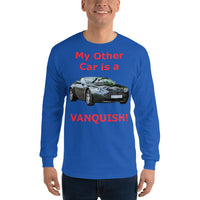 Gildan Long Sleeve T-Shirt: Other car Vanquish red text