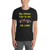 Gildan Short-Sleeve Unisex T-Shirt: XK 140 yellow text