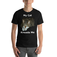 Bella and Canvas Short-Sleeve Unisex T-Shirt: kneads me Domestic white text