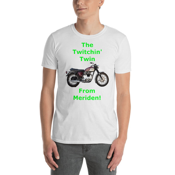 Gildan Short-Sleeve Unisex T-Shirt: Twitchin twin green text