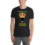 Gildan Short-Sleeve Unisex T-Shirt--Joseph Lucas Prince of Darkness Yellow Text