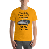 Bella and Canvas Short-Sleeve Unisex T-Shirt: Only View XK 150 black text