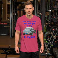 Bella and Canvas Short-Sleeve Unisex T-Shirt: only view E Type blue text