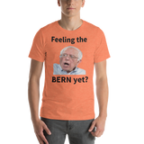 Bella and Canvas Short-Sleeve Unisex T-Shirt: Feeling the Bern yet black text