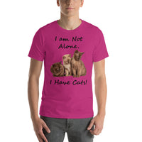 Bella and Canvas Short-Sleeve Unisex T-Shirt: Have cats black text