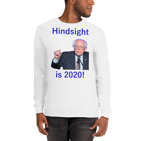 Gildan Long Sleeve T-Shirt: Hindsight blue text