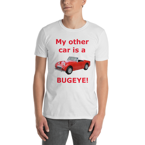 Gildan Short-Sleeve Unisex T-Shirt: Bugeye red text