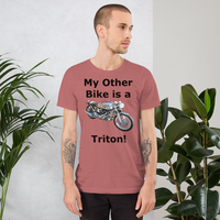 Bella and Canvas Short-Sleeve Unisex T-Shirt: Triton black text
