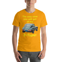 Bella and Canvas Short-Sleeve Unisex T-Shirt: only view E Type yellow text