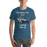 Bella and Canvas Short-Sleeve Unisex T-Shirt: Lotus MK VI white text