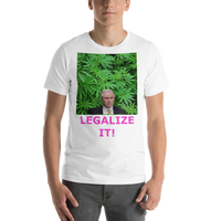 Bella and Canvas Short-Sleeve Unisex T-Shirt: Jeff Sessions LEGALIZE IT magenta text