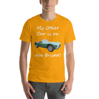 Bella and Canvas Short-Sleeve Unisex T-Shirt: Other car Ace Bristol white text