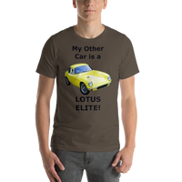 Bella and Canvas Short-Sleeve Unisex T-Shirt:: Lotus Elite black text