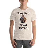 Bella and Canvas Short-Sleeve Unisex T-Shirt: ROTC black text