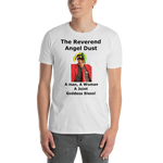 Gildan Short-Sleeve Unisex T-Shirt: The Reverend Angel Dust Black Text