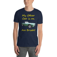 Gildan Short-Sleeve Unisex T-Shirt: Other car Ace Bristol yellow text