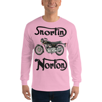 Gildan Long Sleeve T-Shirt: Snortin Norton black text