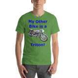 Bella and Canvas Short-Sleeve Unisex T-Shirt: Triton blue text