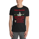Gildan Short-Sleeve Unisex T-Shirt: Help Wanted Red Text