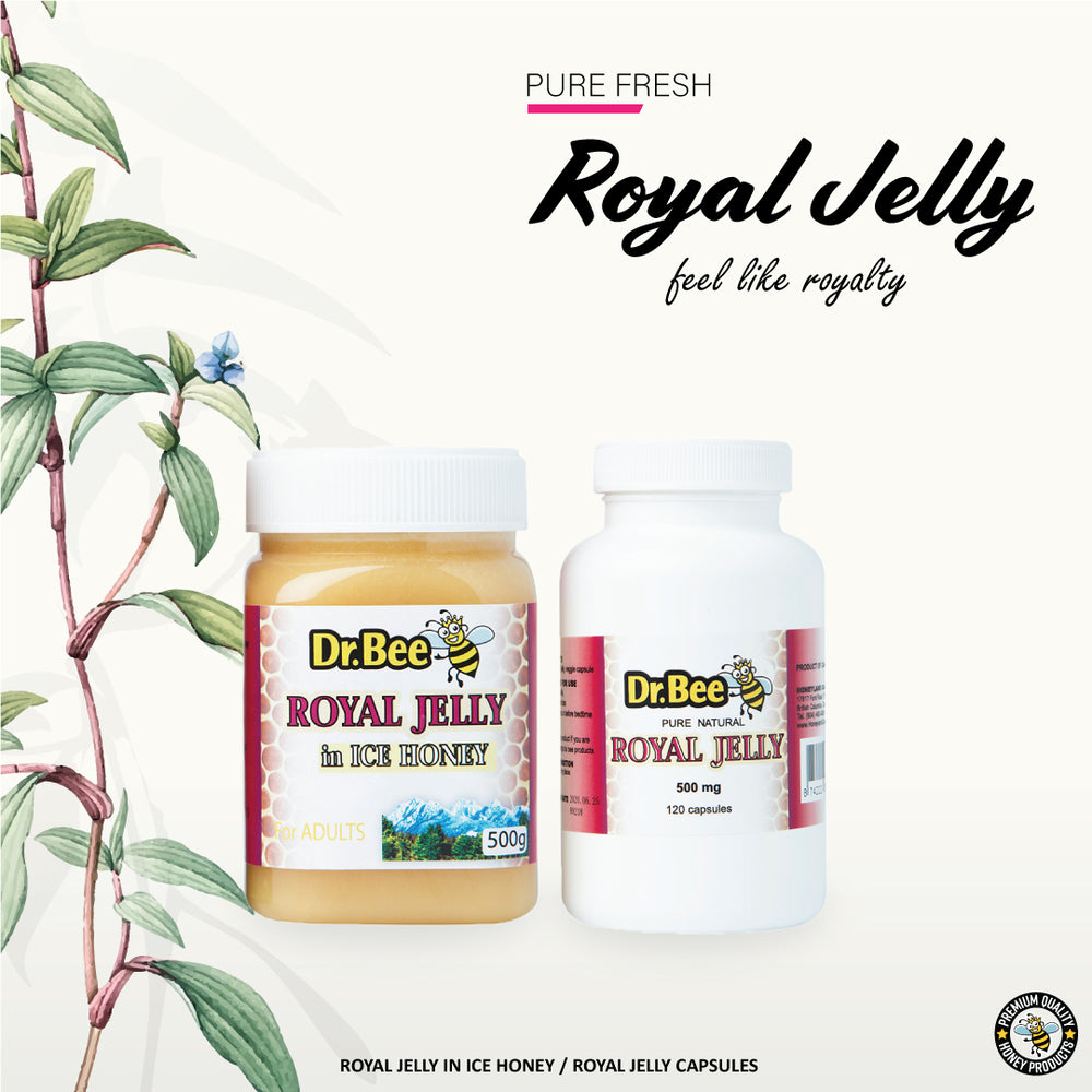 Royal Jelly Alternatives: Royal Jelly in Ice Honey & Royal Jelly Capsules