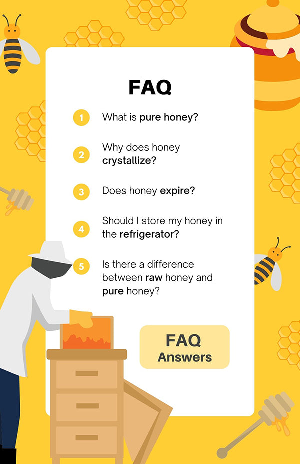 Dr. Bee Frequently Asked Questions Graphic on Yellow Background