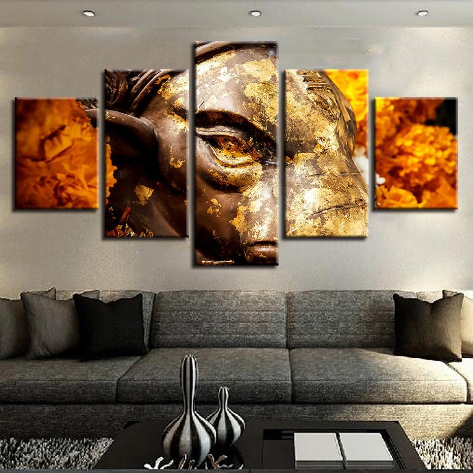 Fierce Tiger Roaring 5 Piece Canvas Art Wall Art Picture Painting Home Decor