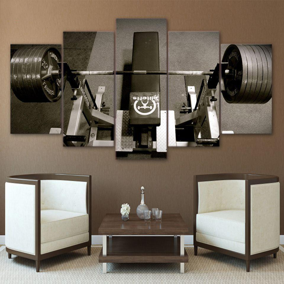 Bench press gym fitness piece canvas art wall art picture