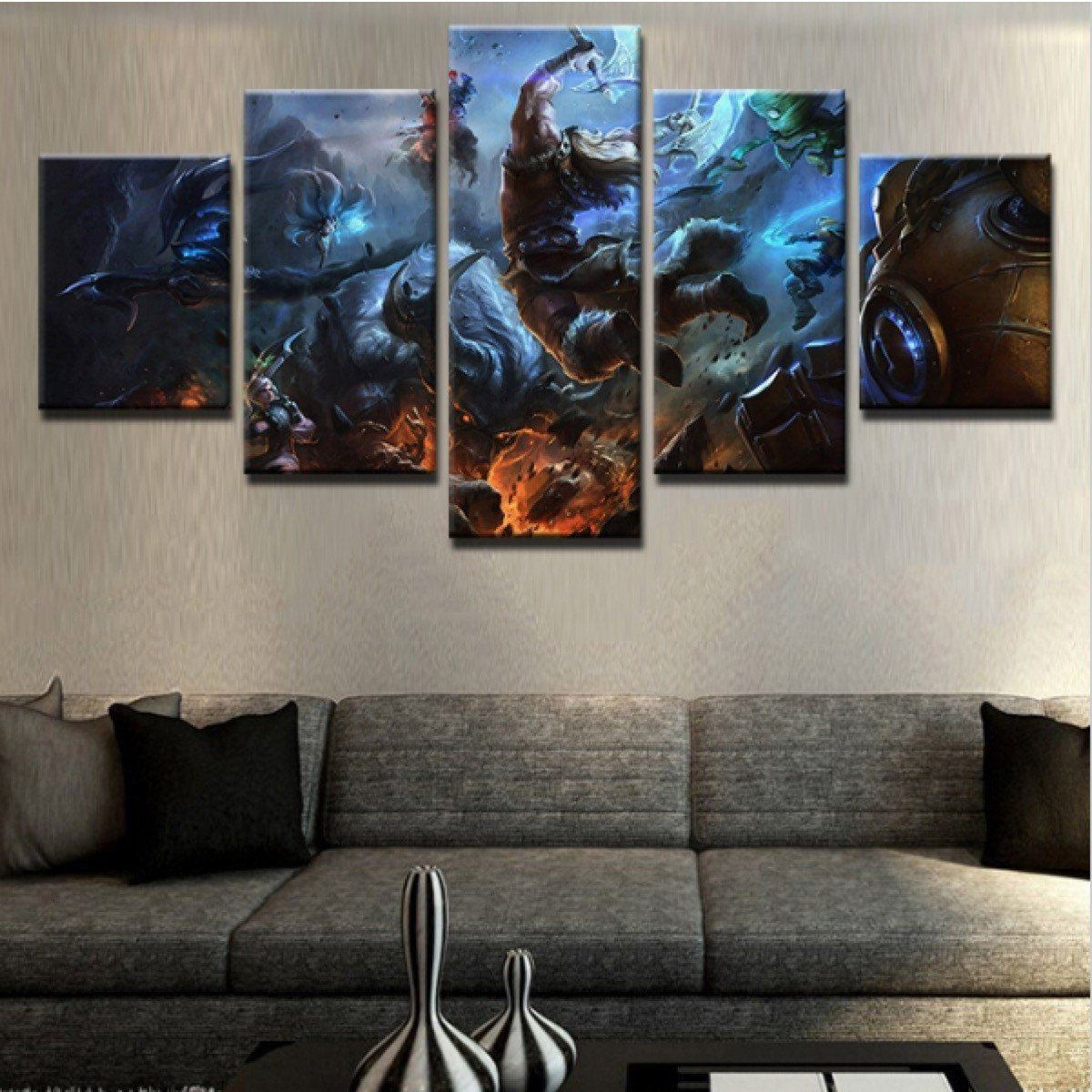 Amazing Anime Fighting 5 Piece Canvas Art Wall Art Picture Painting