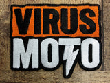 Virus Moto Orange Logo Patch