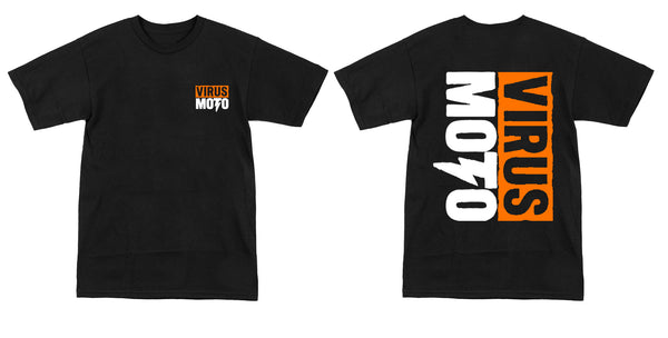 (Youth) Virus Moto Orange Logo T-Shirt