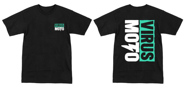 (Youth) Virus Moto Teal Logo T-Shirt