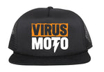 Virus Moto Orange Logo Mesh Hat