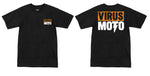 Virus Moto Orange Logo T-Shirt