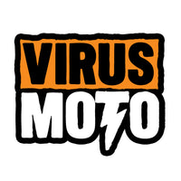"Virus Moto Sticker. 3.25"" x 4"""