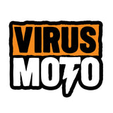 "Virus Moto Sticker. 7.5"" x 9.5"""