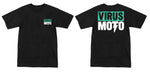 Virus Moto Teal Logo T-Shirt