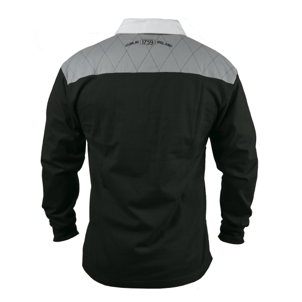 a643864cf75 Guinness Heritage Charcoal Grey and Black Long Sleeve Rugby Jersey ...
