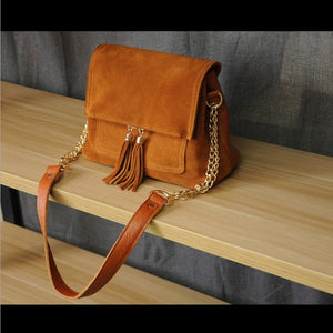 Women Genuine Leather Fringe Shoulder Bags