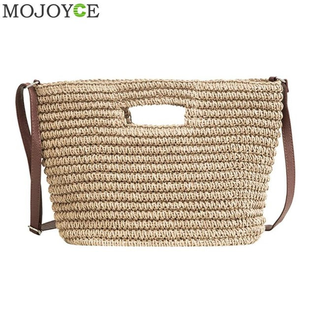Women's Weave Straw Hand Bag Shoulder