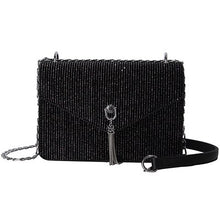 Striped corduroy Sequined women bag