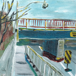 Woodbine Bridge Square ArtScarf