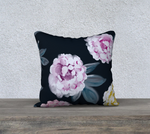 "Peonies - 18x18"" Throw Pillowcase"