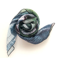 Davisville Bridge Square Chiffon ArtScarf | Toronto Scarf Collection | artscarves.ca