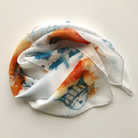 Cats In Hats Square Chiffon ArtScarf | Watercolour Scarf Collection | artscarves.ca