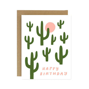 Worthwhile Paper - Cactus Birthday Card